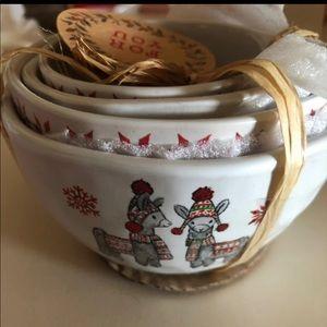 Llama Measuring Cups Ceramic NEW